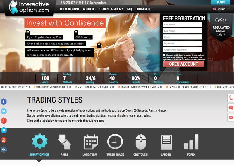 Interactive Option Screenshot