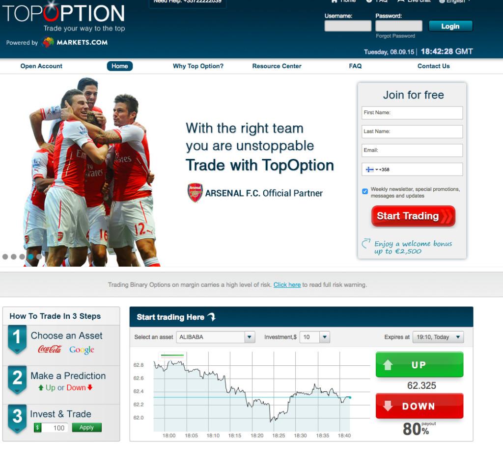 topoption screenshot