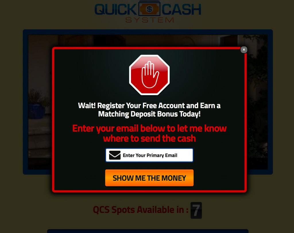 Quick Cash System