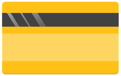 Yellow Credit Card