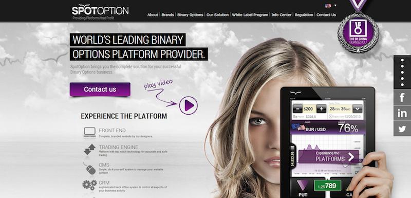 spotoption homepage