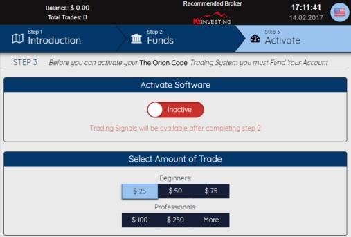Activation Of Platform Screenshot