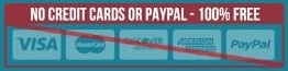 No Credit Cards Or Paypal