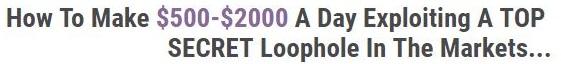 Secret Market Loophole