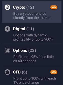 CryptoTrading IQ Options